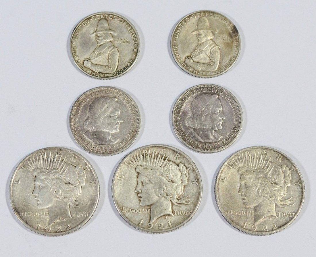 (2) 1920 Pilgrim Tercentenary silver half dollars
