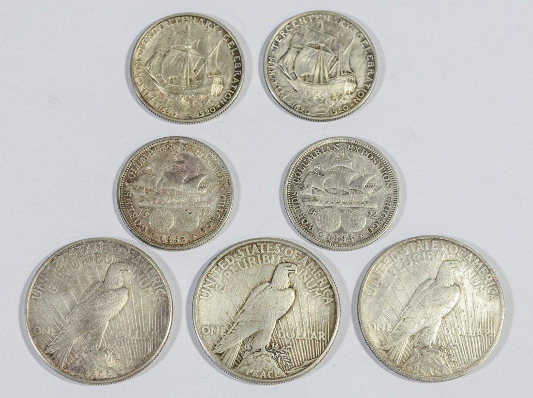 (2) 1920 Pilgrim Tercentenary silver half dollars - 2