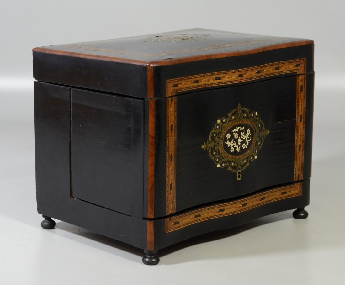 French tantalus set, boulle style inlay, mother of - 4