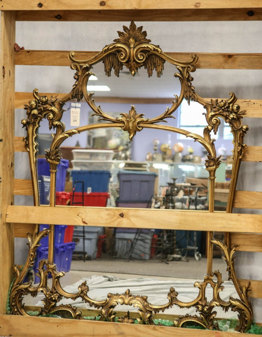 Ornate carved & gilt Louis XIV style French wall
