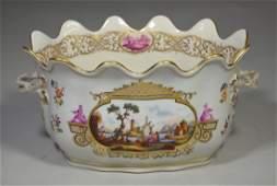 Niderviller Faience Factory, France, oval porcelain