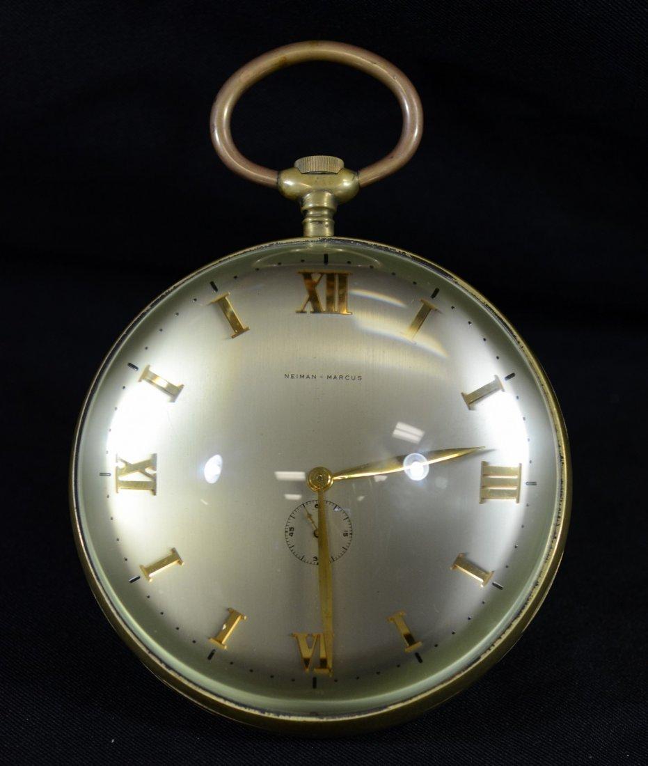 Neiman Marcus crystal ball desk clock, Xoticlox Swiss - 2