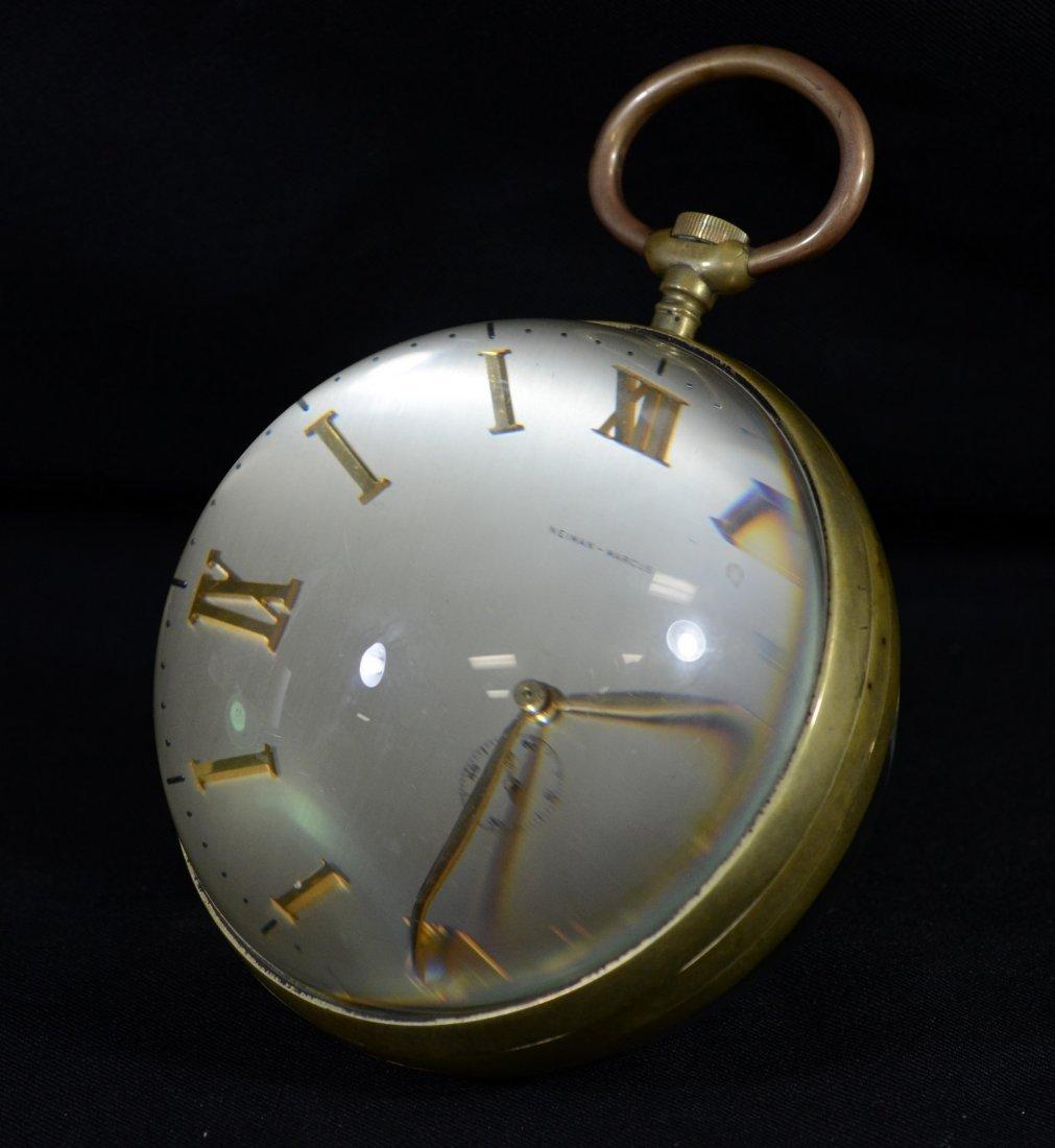 Neiman Marcus crystal ball desk clock, Xoticlox Swiss - 3