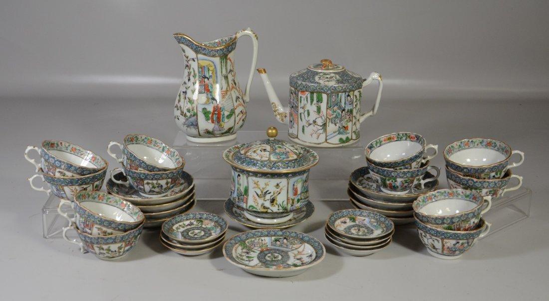 32 pcs Famille Verte Chinese Export porcelain,