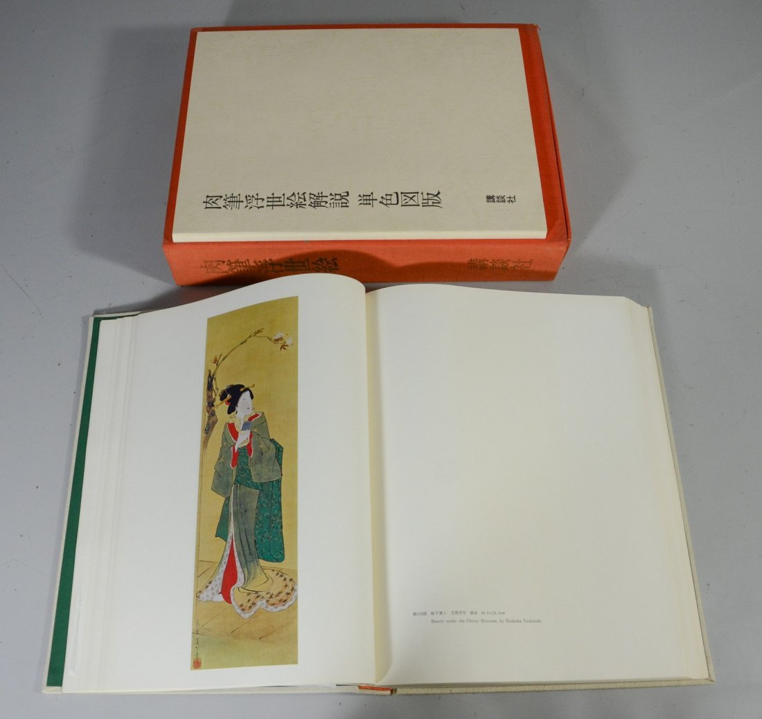 Japanese book of prints in fitted case, Collection of