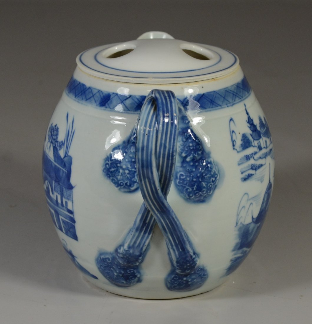 Chinese Export Canton porcelain cider jug, double - 2