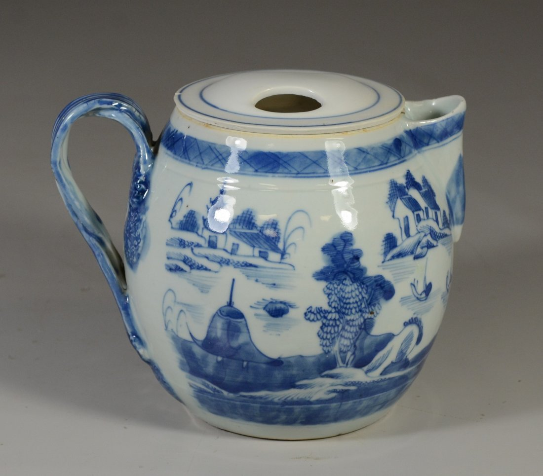 Chinese Export Canton porcelain cider jug, double - 3