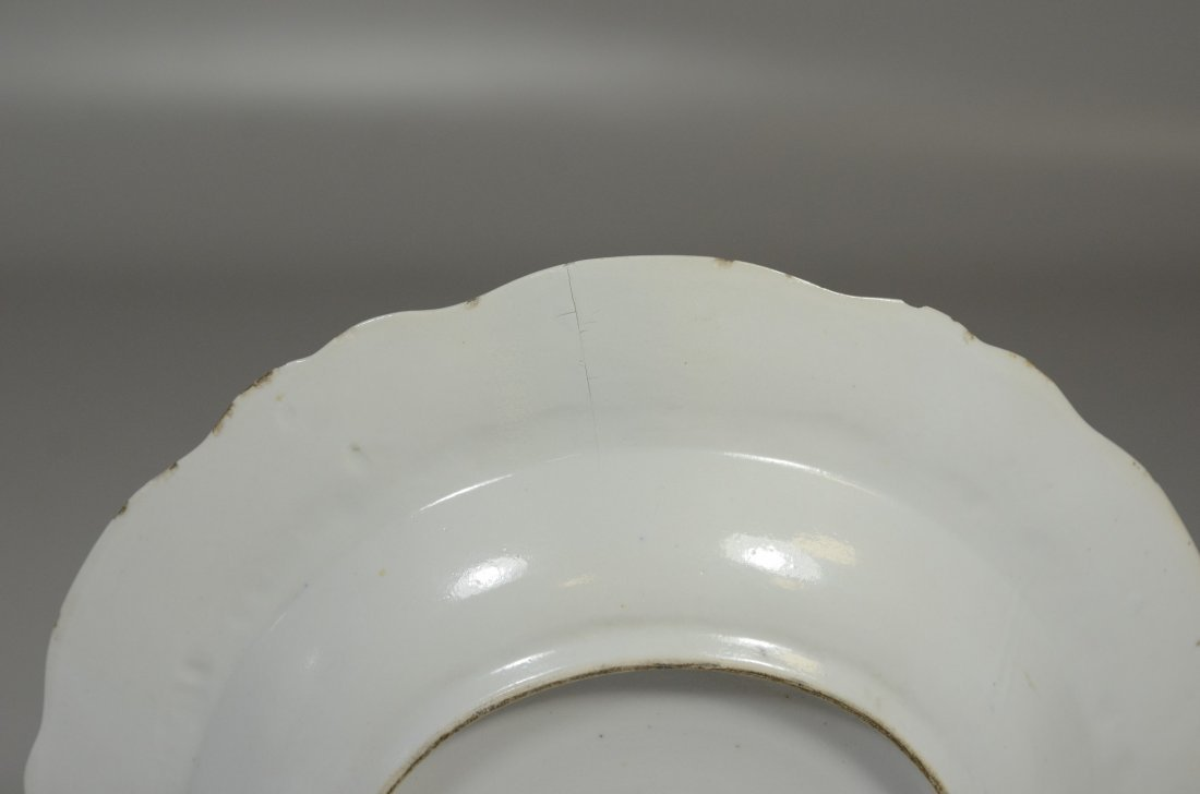 Pair of Chinese Export porcelain Armorial soup bowls, - 5