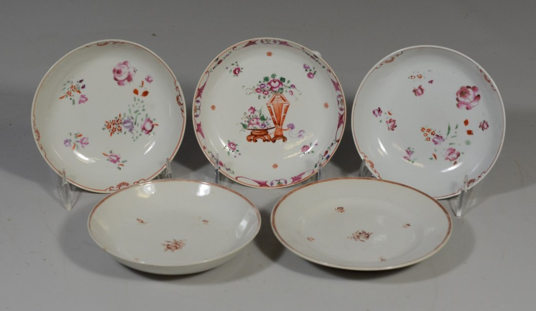 (5) Pieces Chinese Export porcelain, c/o pair of