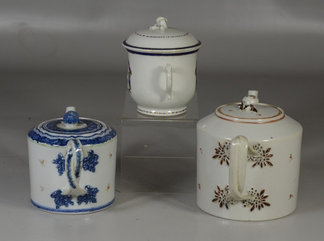 (3) Pieces Chinese Export porcelain, c/o floral - 2