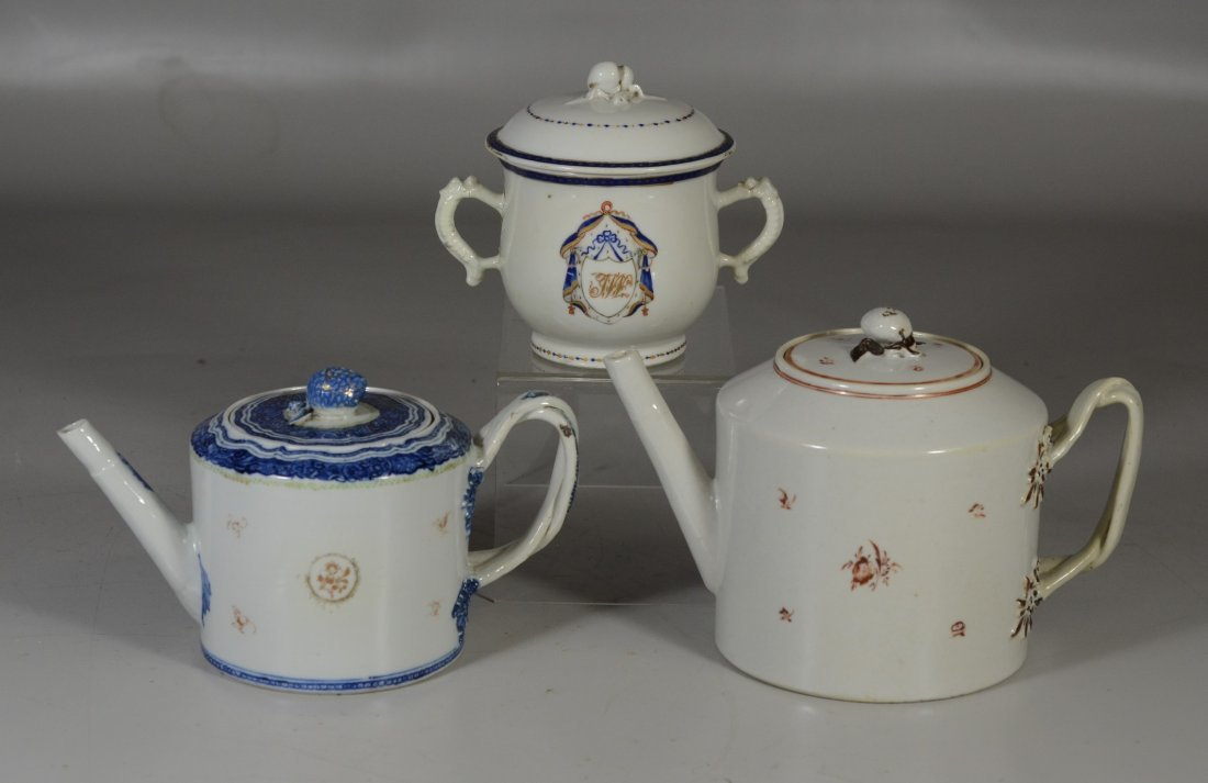 (3) Pieces Chinese Export porcelain, c/o floral - 3