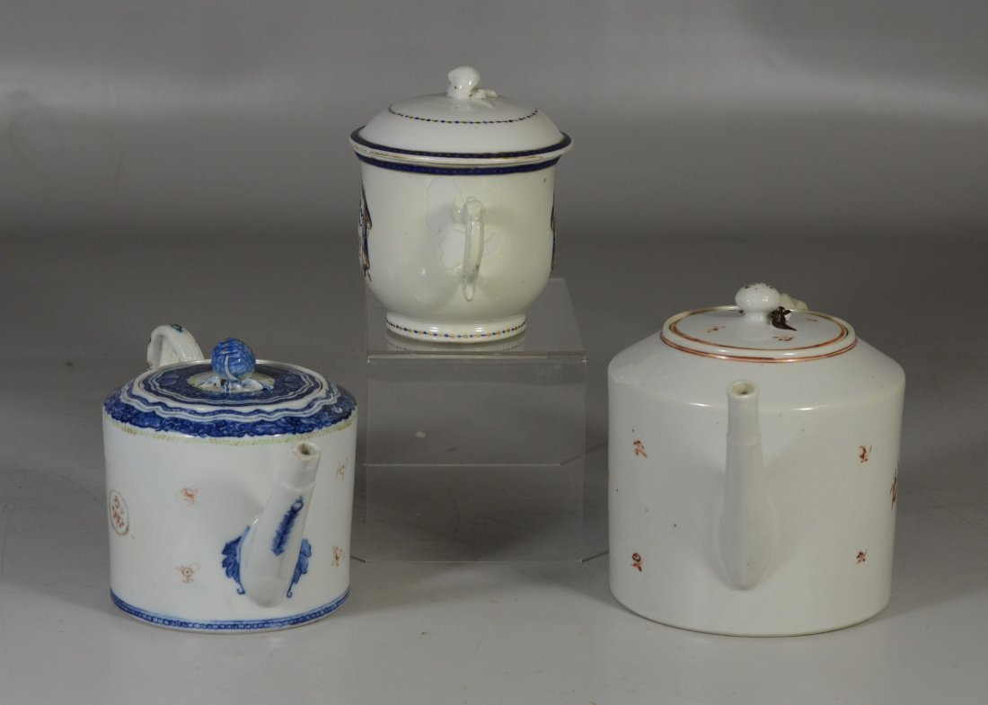 (3) Pieces Chinese Export porcelain, c/o floral - 4