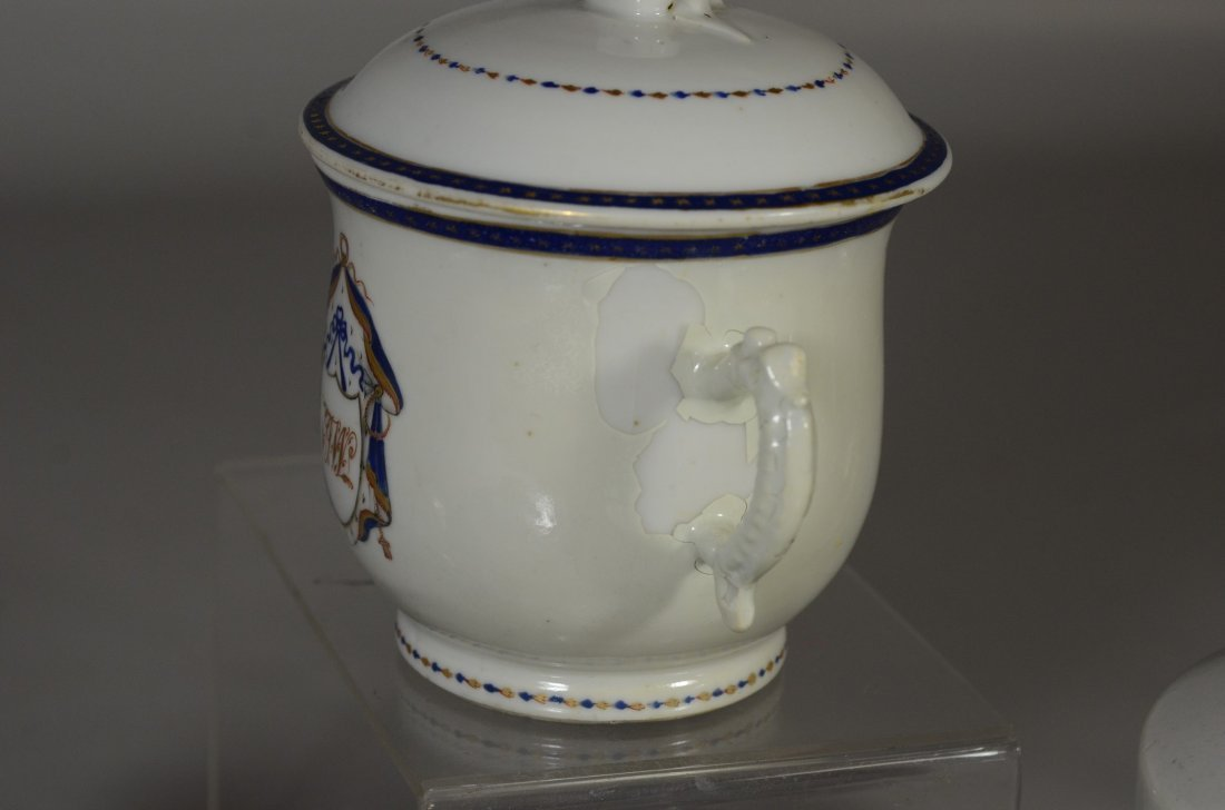(3) Pieces Chinese Export porcelain, c/o floral - 5