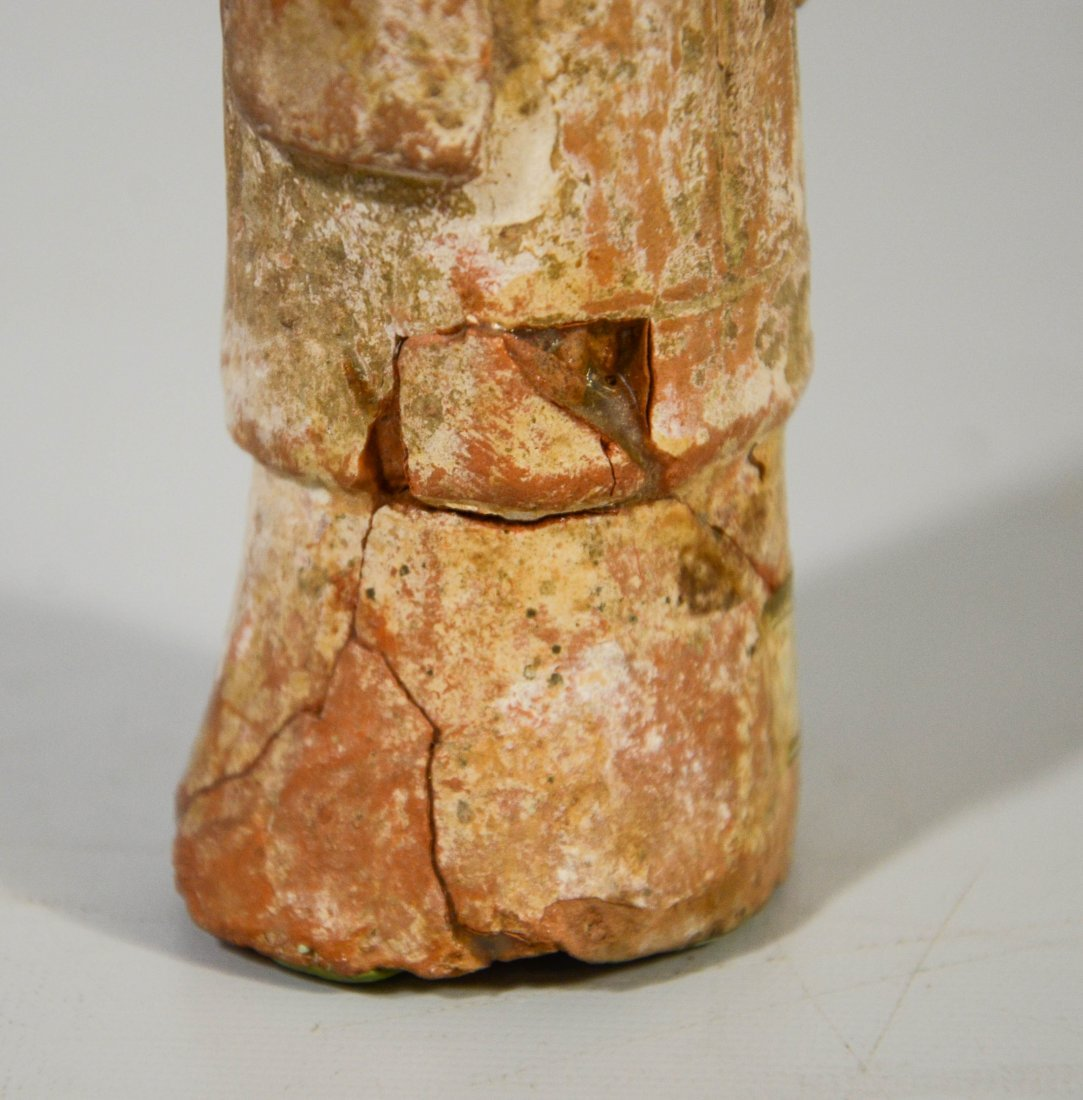 Pair of early Tong style glazed terra cotta clay - 3