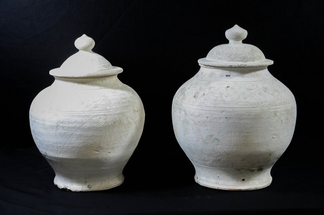 Almost identical pair of Chinese Sung style covered