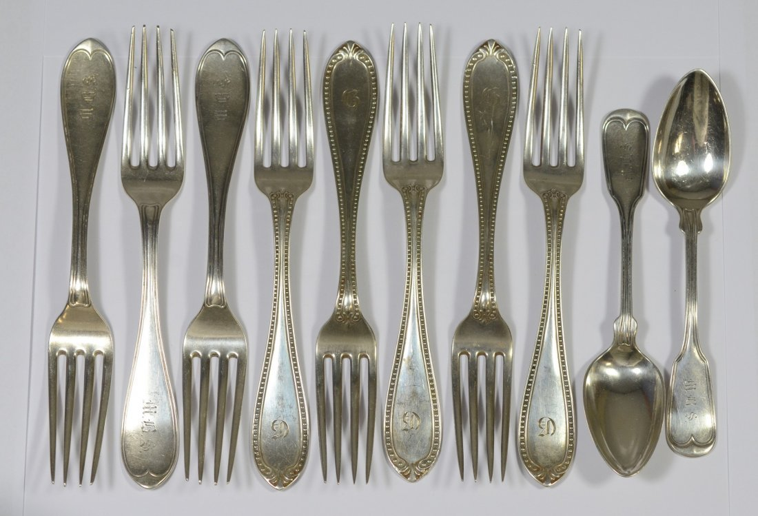 (10) Pieces Tiffany & Co sterling silver flatware, (5 +