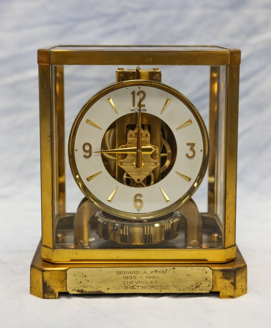 LeCoultre Atmos shelf clock, rising top, caliber 528-6,