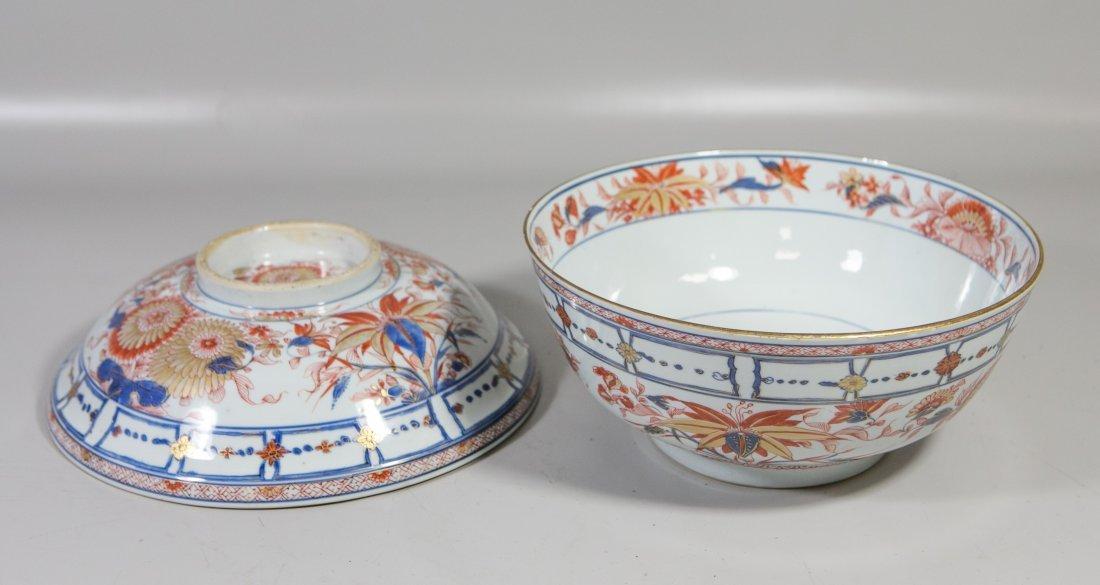 Chinese Imari porcelain lidded bowl with undertray - 5