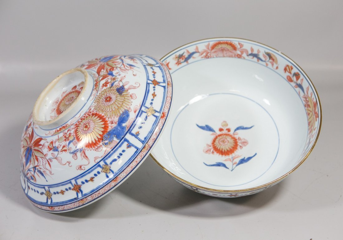 Chinese Imari porcelain lidded bowl with undertray - 6