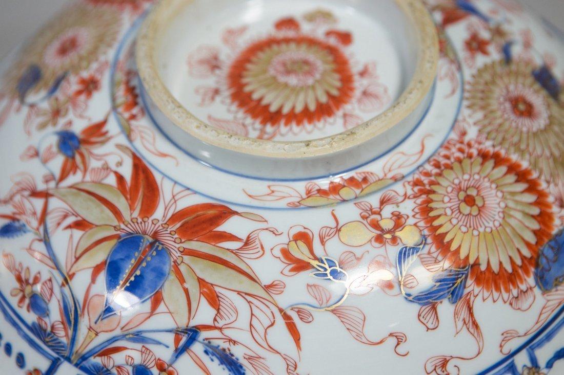 Chinese Imari porcelain lidded bowl with undertray - 9