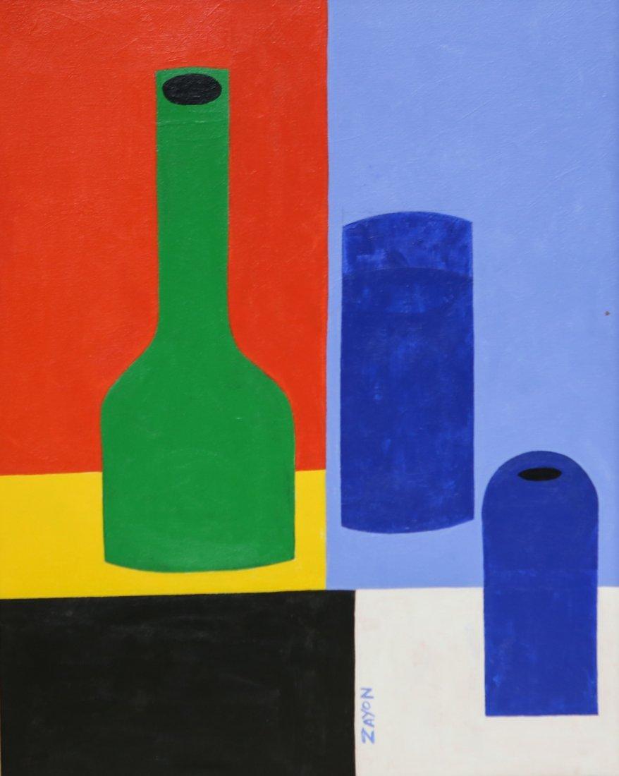 Seymour Zayon (American, PA, b 1930), acrylic on