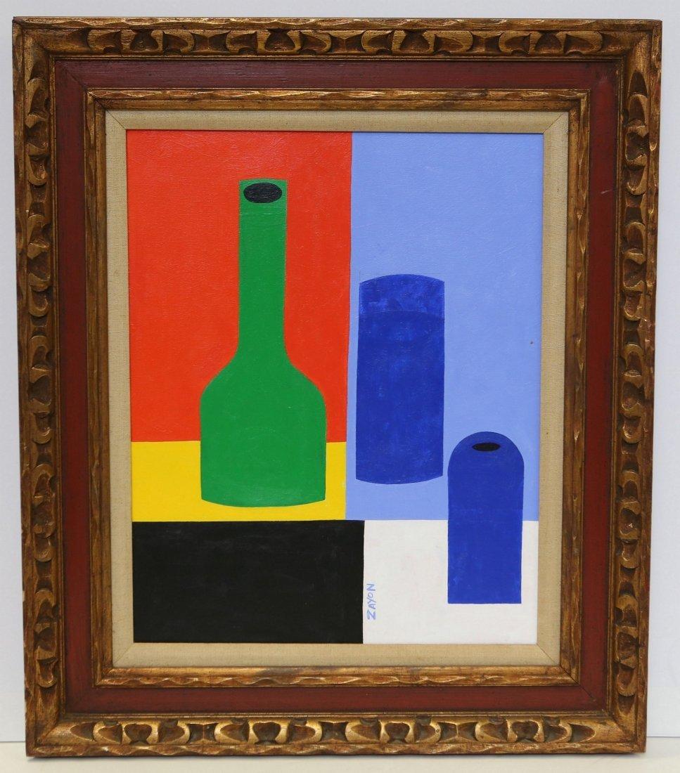 Seymour Zayon (American, PA, b 1930), acrylic on - 2
