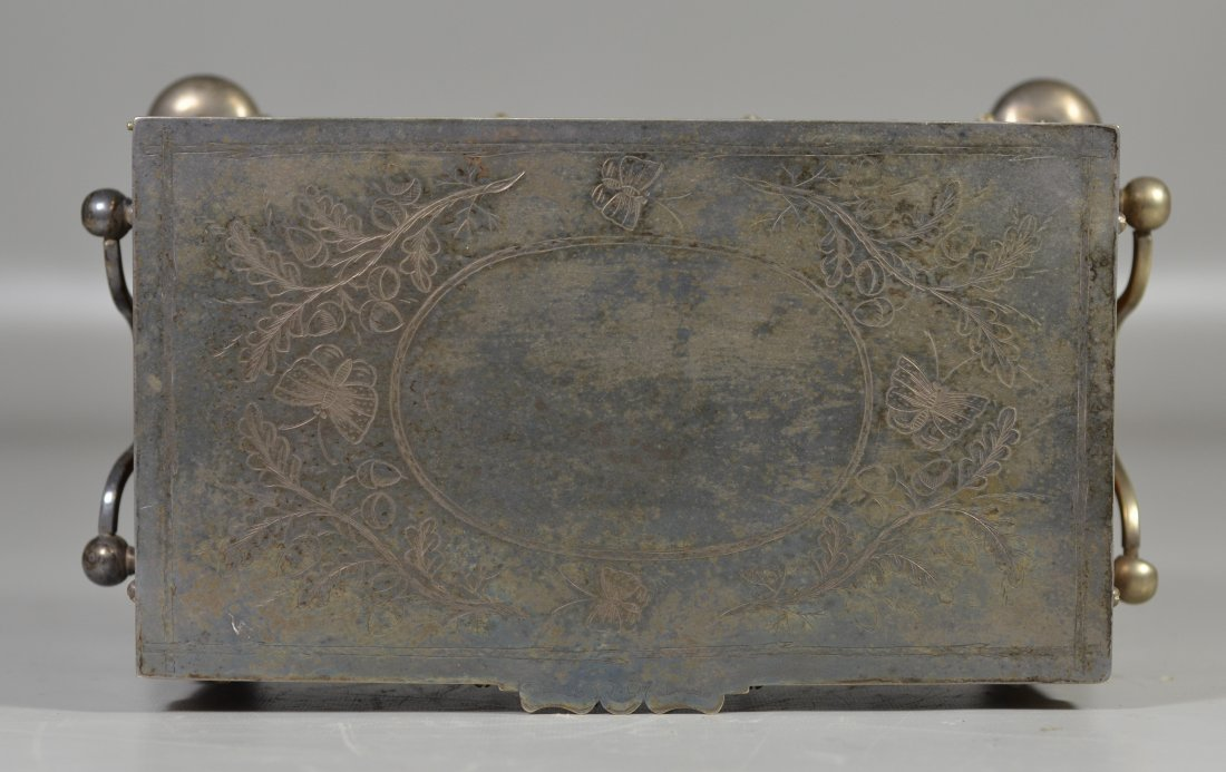 Victorian old English oak & Sheffield silver plate - 2