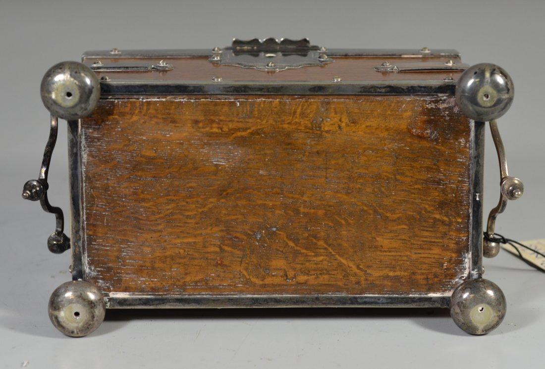 Victorian old English oak & Sheffield silver plate - 5