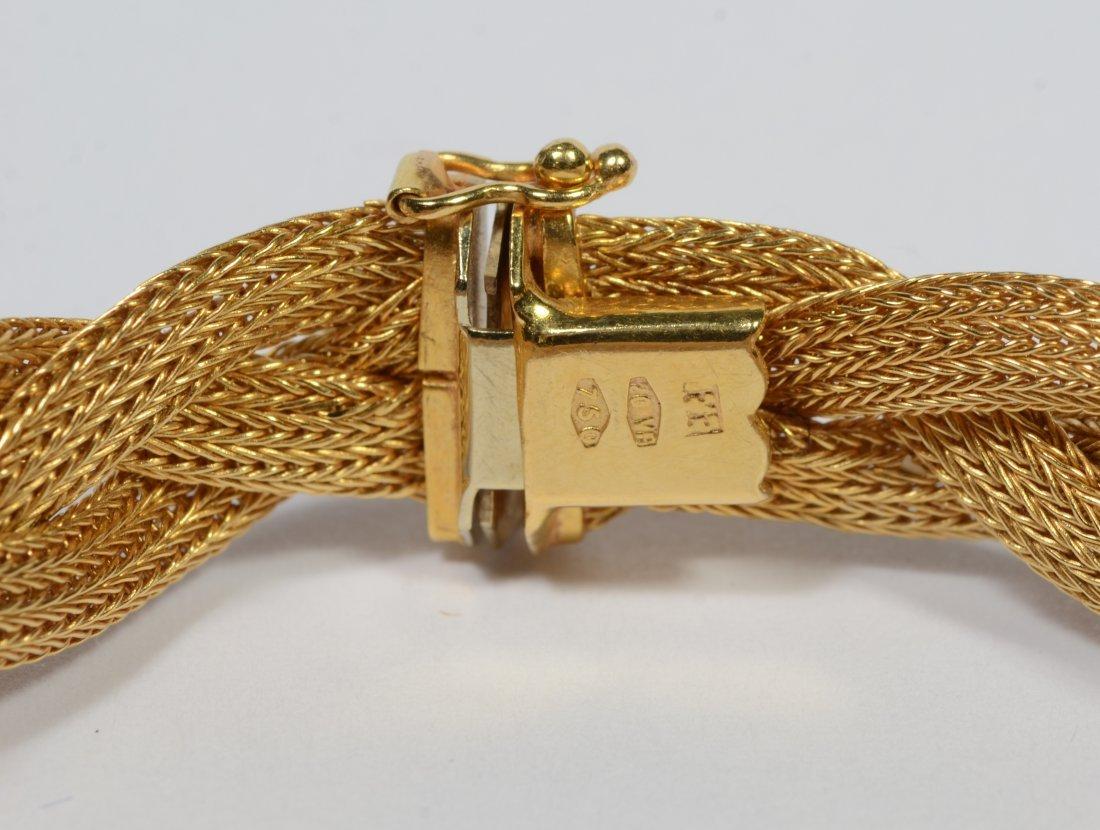 18K gold woven bracelet, 14.9 dwt - 3