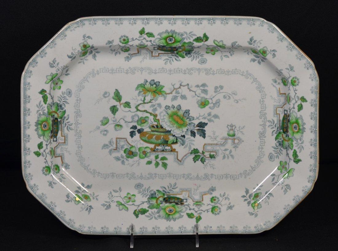 """English Ironstone china platter, """"Nankin Jar"""", 16-3/4"""""""