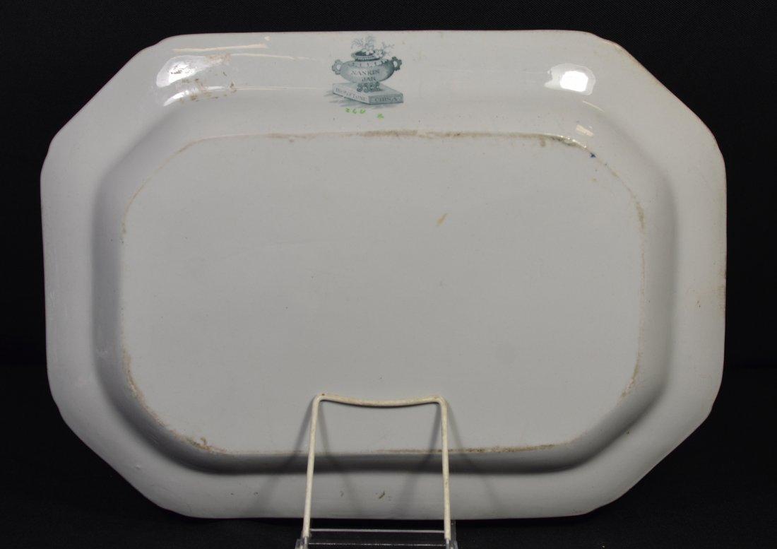 """English Ironstone china platter, """"Nankin Jar"""", 16-3/4"""" - 2"""