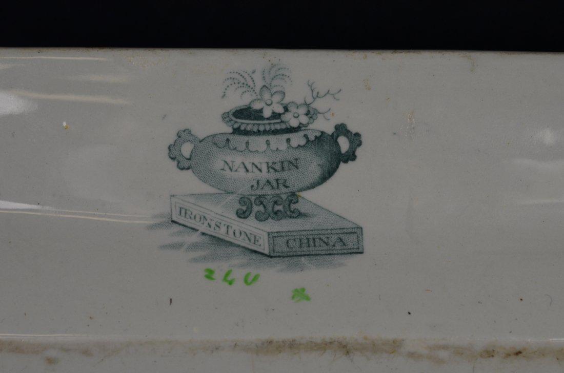 """English Ironstone china platter, """"Nankin Jar"""", 16-3/4"""" - 3"""