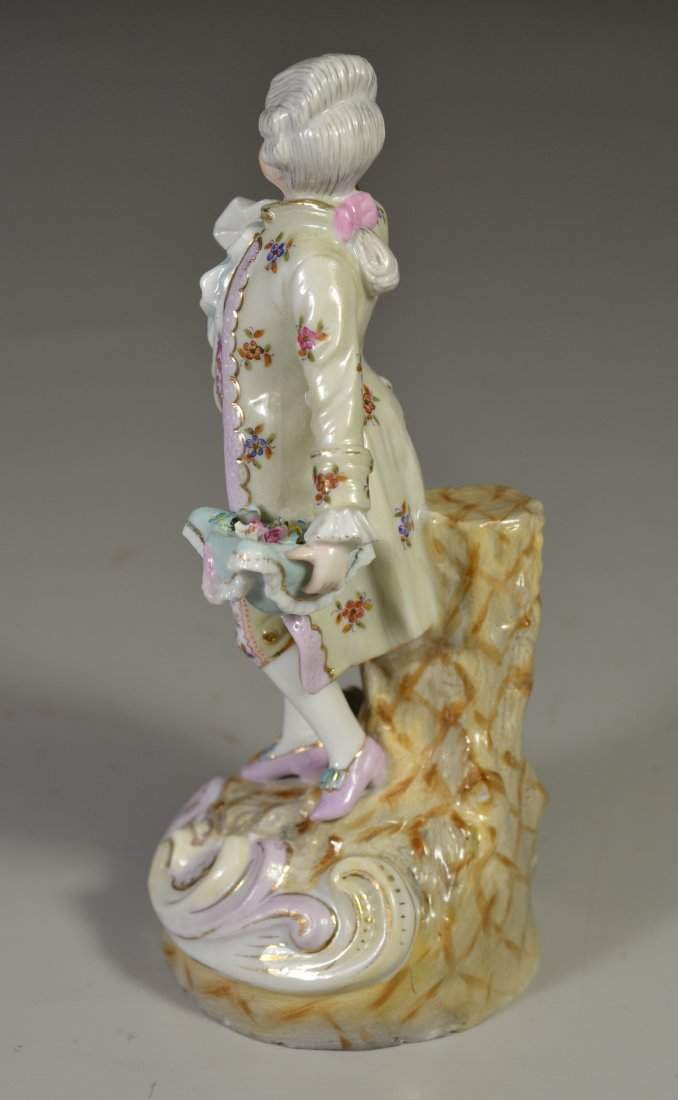 Continental porcelain figurine, man carrying - 2