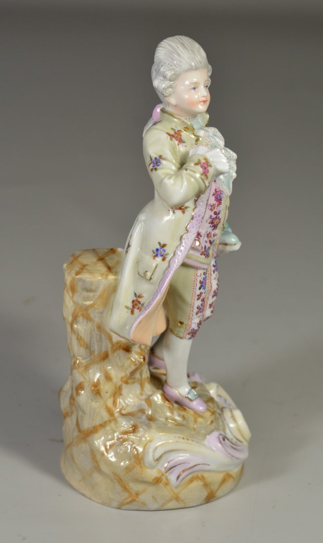 Continental porcelain figurine, man carrying - 4