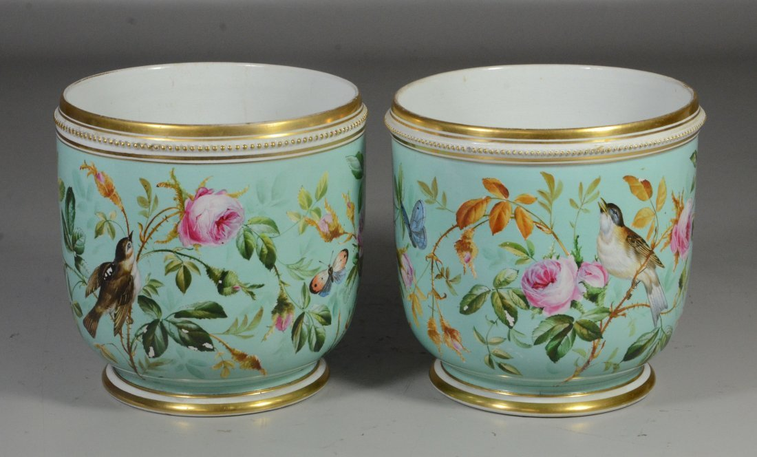 Pair of Davenport Longport Staffordshire porcelain