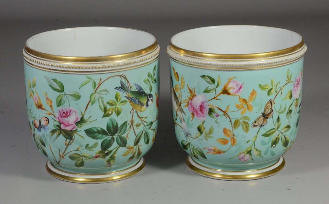 Pair of Davenport Longport Staffordshire porcelain - 2