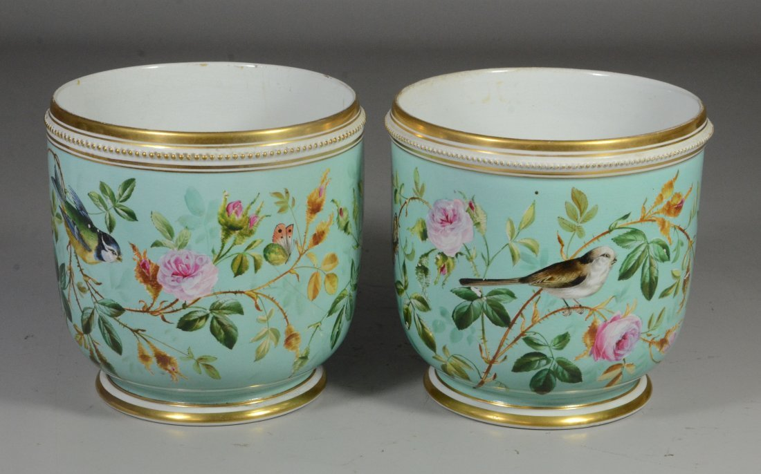 Pair of Davenport Longport Staffordshire porcelain - 3