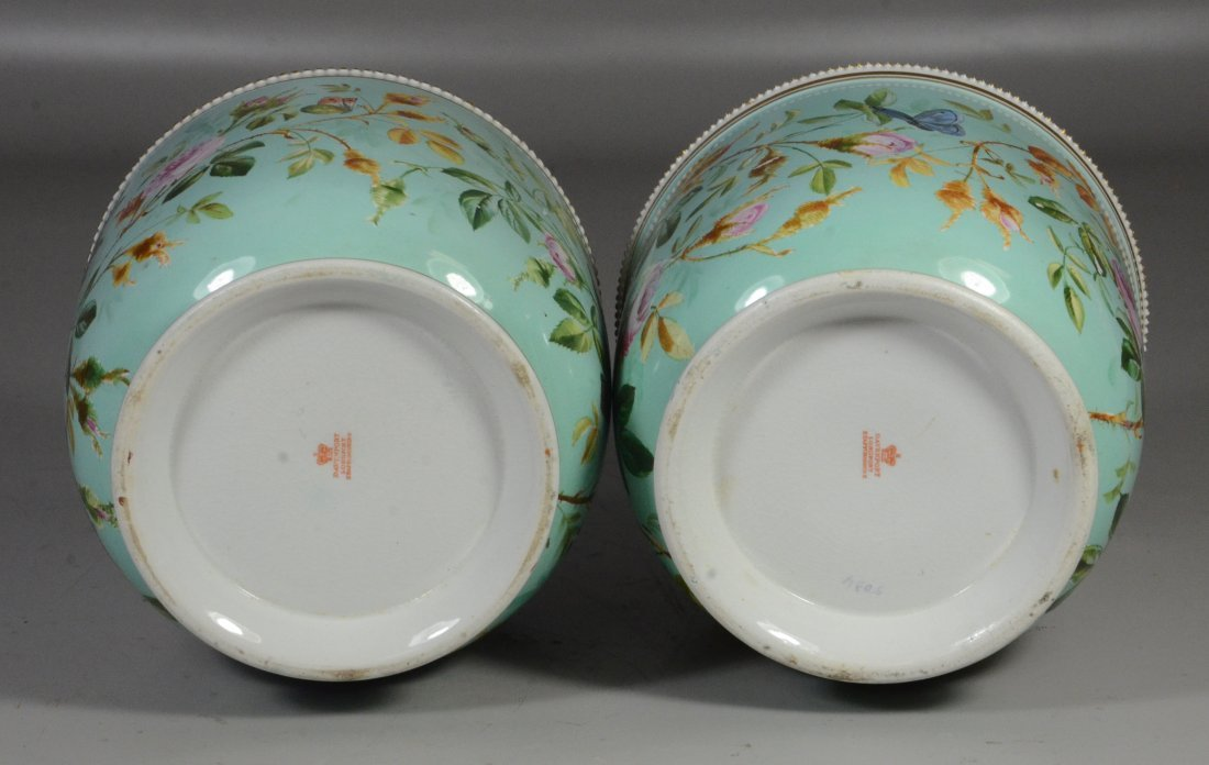 Pair of Davenport Longport Staffordshire porcelain - 5
