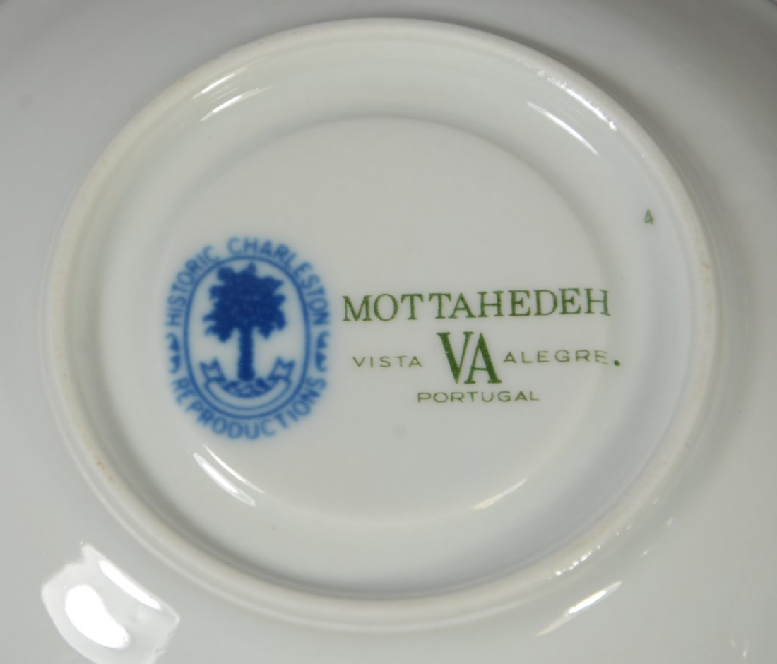(14) Pieces Mottahedeh Canton pattern blue & white - 2