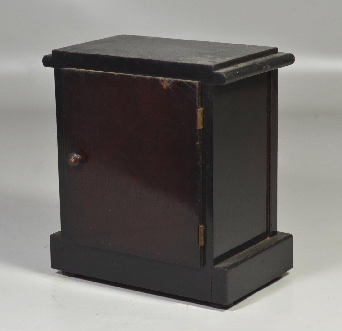 "Seth Thomas wood mantle clock, 9 1/2"" high x 8 1/2"" - 2"