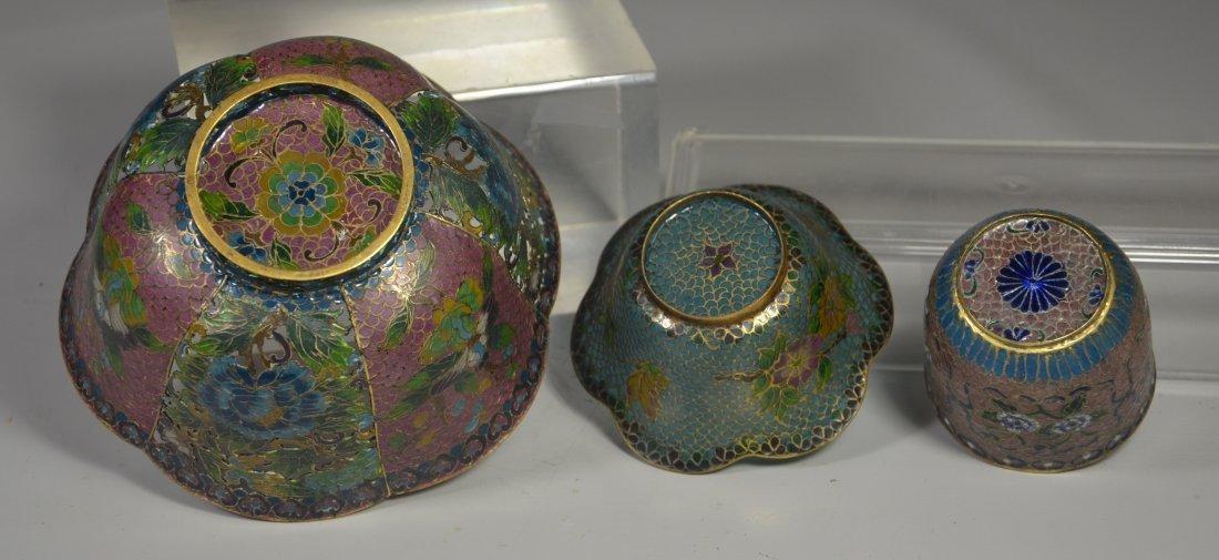 (3) Pieces Chinese plique a jour, including large bowl - 3