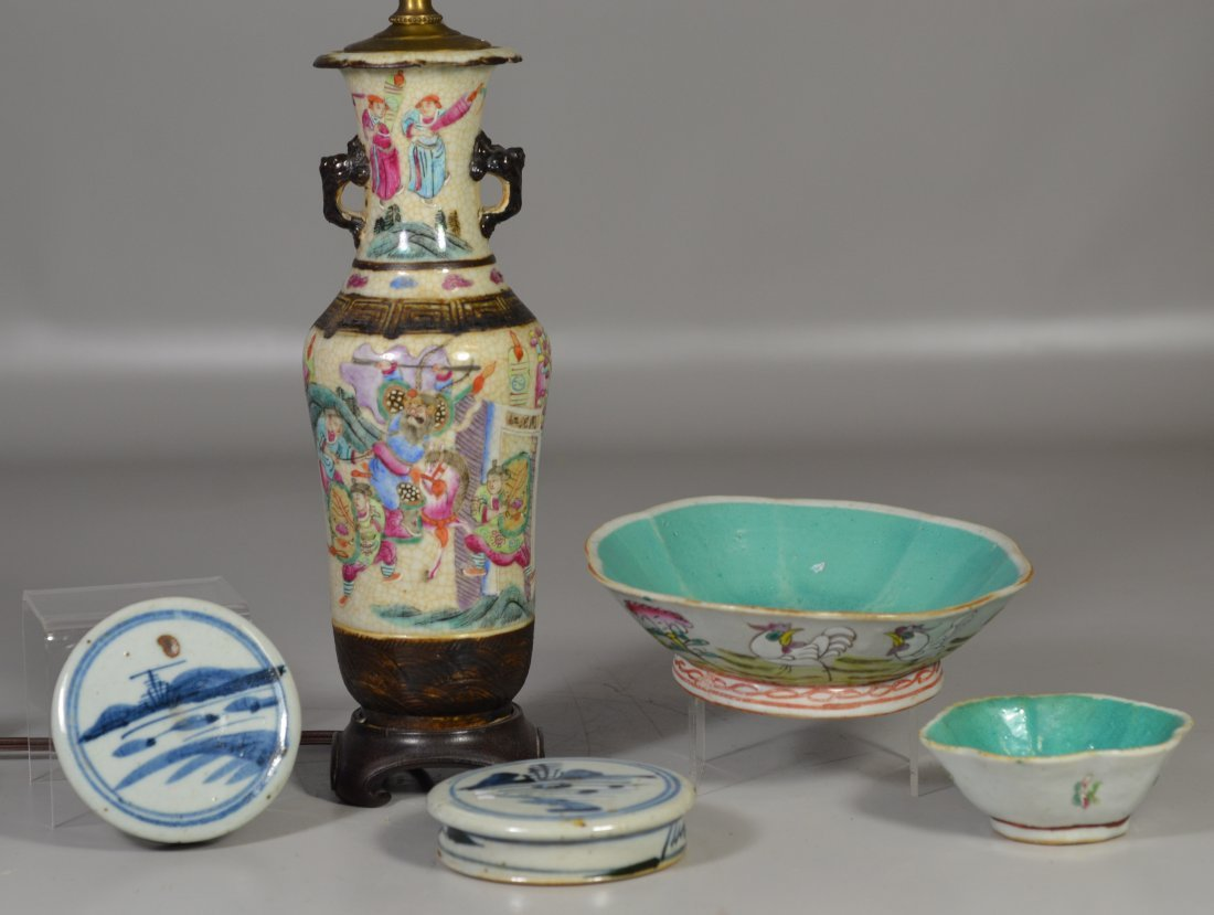 (5) Pieces Asian porcelain, including Famille Rose - 2