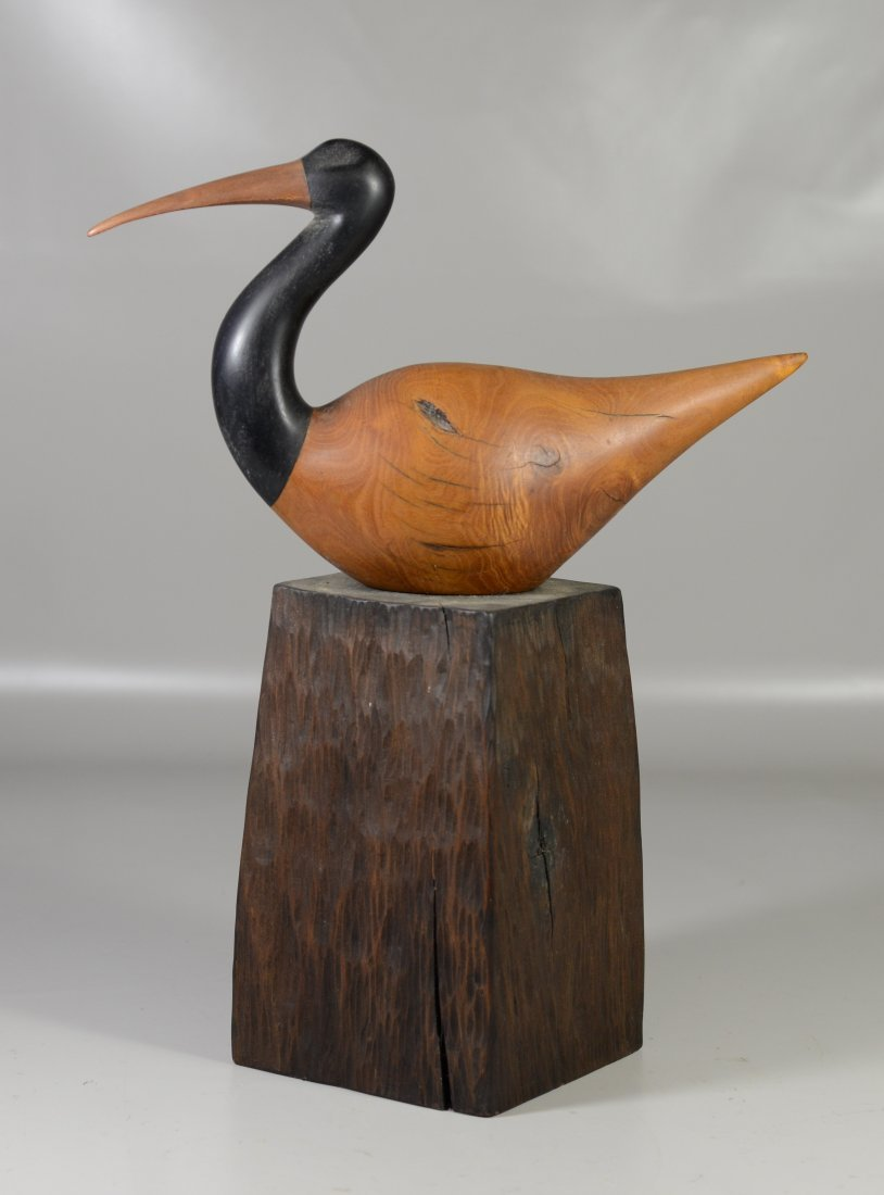 Charles Allmond sculpture of an Ibis, signed and dated
