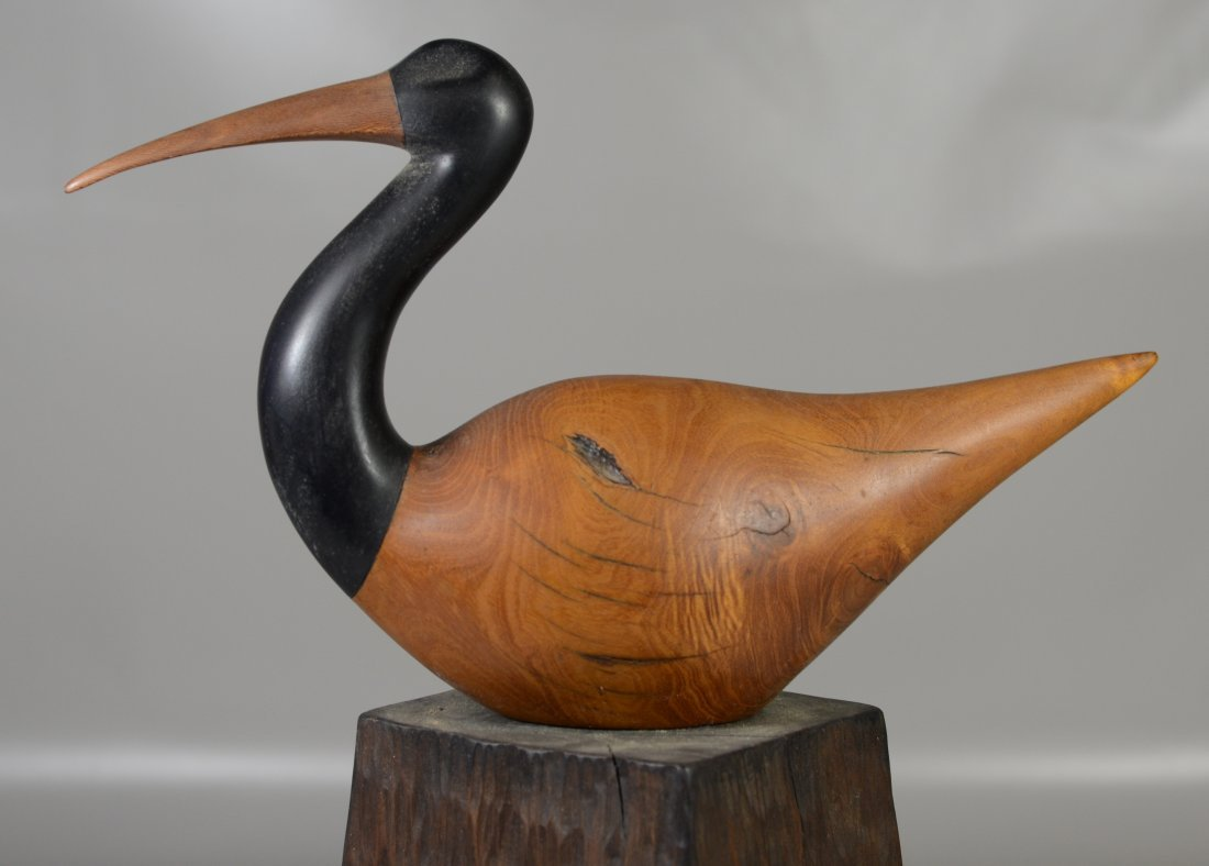 Charles Allmond sculpture of an Ibis, signed and dated - 2