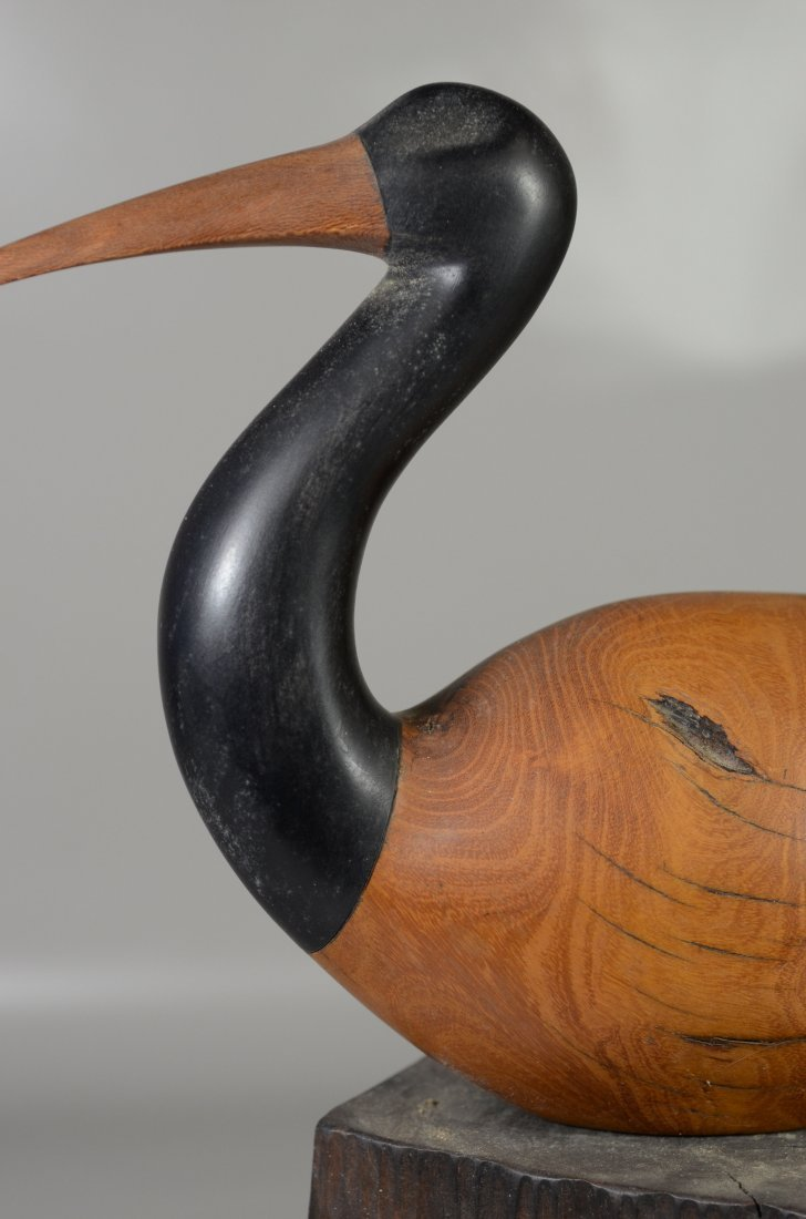 Charles Allmond sculpture of an Ibis, signed and dated - 3