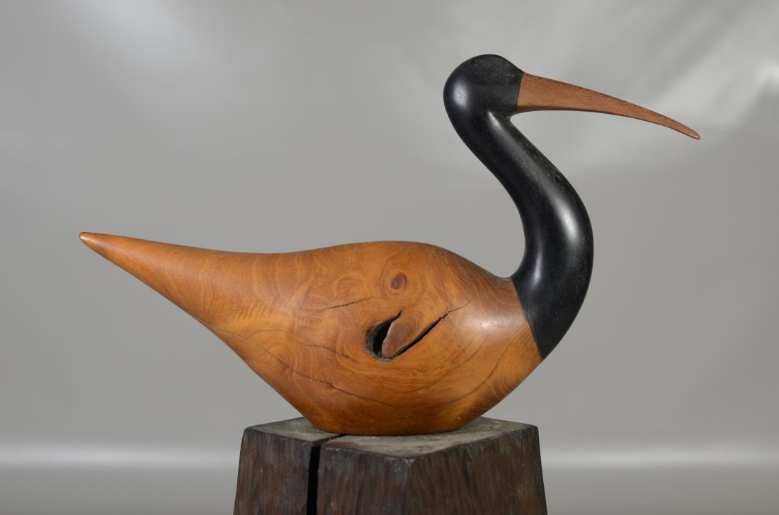 Charles Allmond sculpture of an Ibis, signed and dated - 4