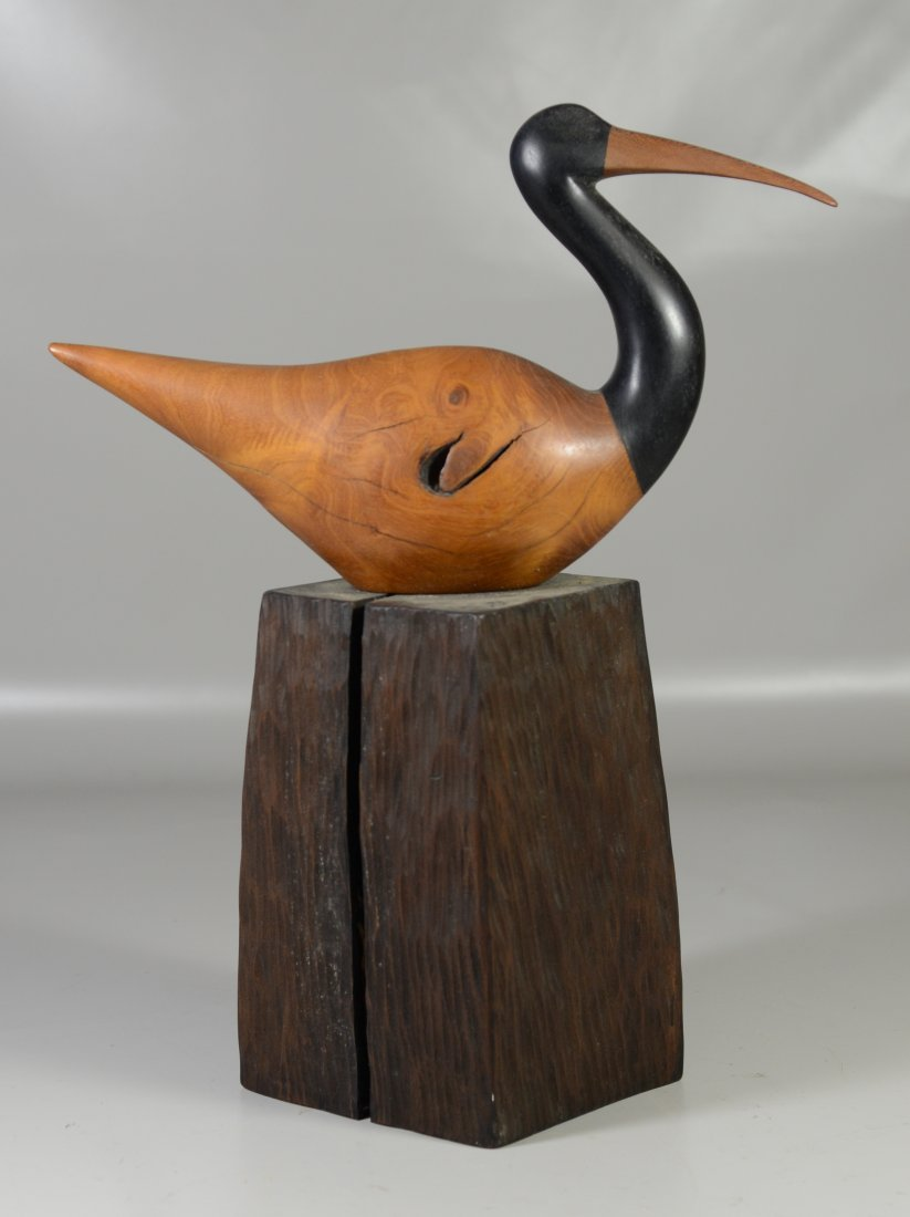 Charles Allmond sculpture of an Ibis, signed and dated - 5