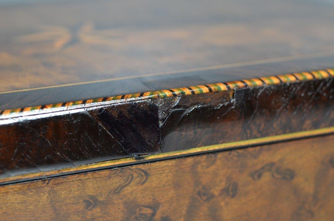 Burlwood mahogany & satinwood inlaid dressing box, star - 7