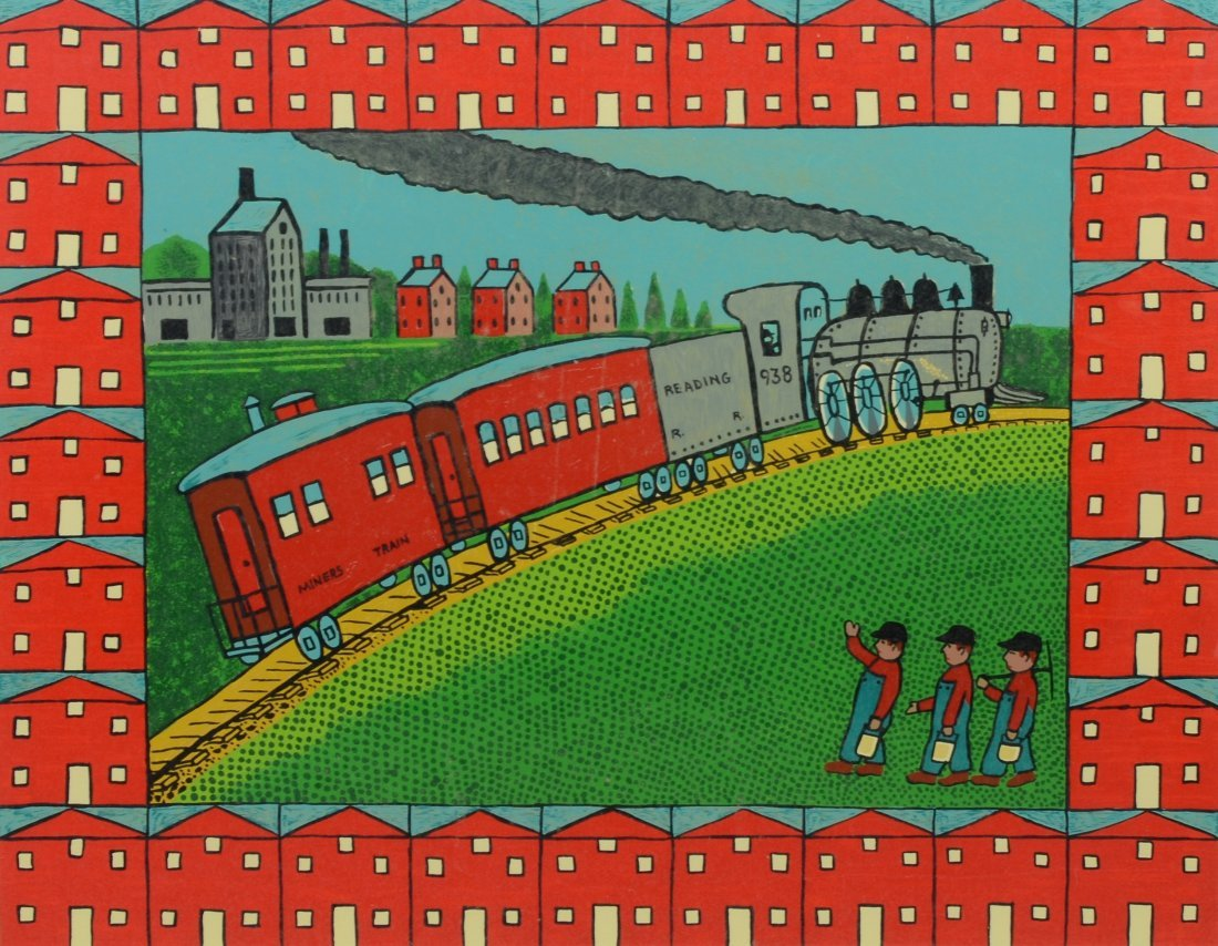 Jack Savitsky (1910 - 1991), Serigraph of a train