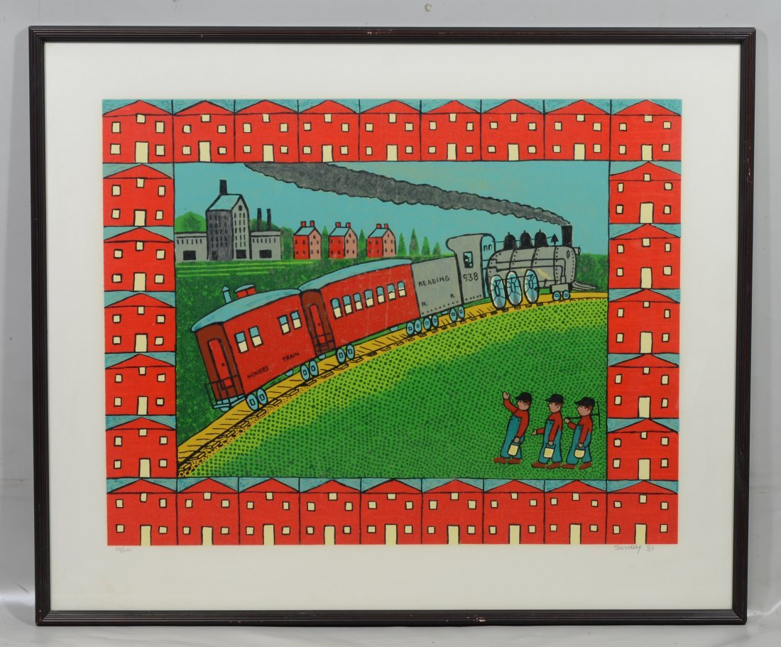 Jack Savitsky (1910 - 1991), Serigraph of a train - 2